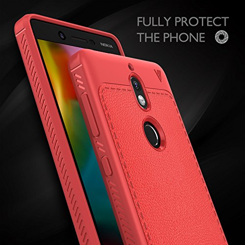 Funda Nokia 7, KuGi anti-rasca la Carcasa del teléfono TPU del de la imitación ninguna Case del teléfono móvil caja del teléfono Cover para Nokia 7 Smartphone,(Azul) Rojo