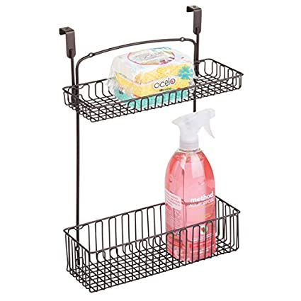 MDesign Over The Cabinet 2 Tier Storage Shelf U2013 Kitchen Storage Wire Hanging