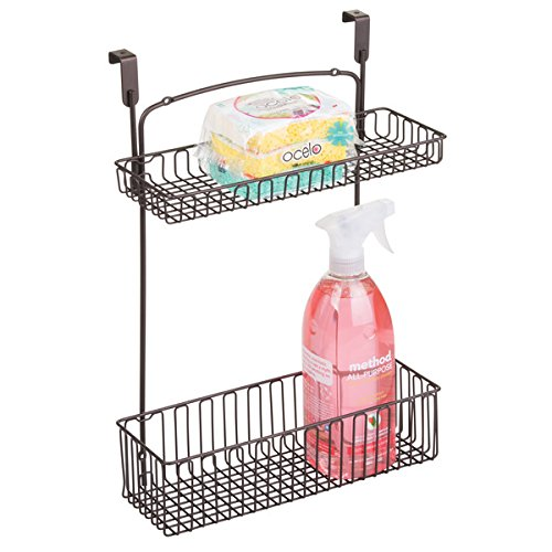 mDesign Organizer Aluminum Cleaning Supplies