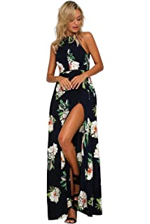 468b41880fd82 Miss Floral® Womens Off Shoulder Floral Print Split Maxi Dress 5 ...