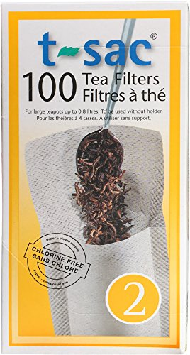 Modern Tea Filter Bags, Disposable Tea Infuser, Size 2, Set of 100 Filters - Heat Sealable, Natural, Easy to Use Anywhere, No Cleanup - Perfect for Teas, Coffee & Herbs ()