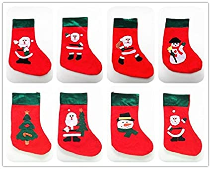 vintage xmas ornaments collection christmas 4pcslot vintage christmas stockings socks santa claus candy gift - Wholesale Vintage Christmas Decorations