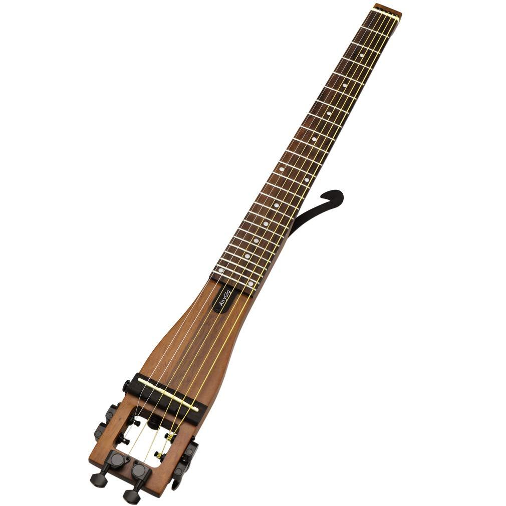 Anygig AGS 6弦 フル レングス 左利き トラベルギター ブラウン   B07H3VFKKR