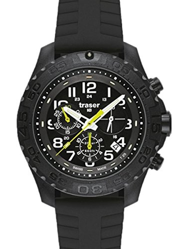 Traser H3 Outdoor Pioneer Chronograph Watch - Silicone Strap - 102912