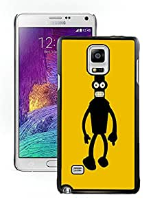 Fashionable DIY Custom Designed Angry Bender Silhouette Cover Case For Samsung Galaxy Note 4 N910A N910T N910P N910V N910R4 Black Phone Case CR-025