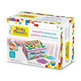 The Orb Factory Sticky Mosaics Butterfly Jewelry Box Arts and Crafts (821 Piece), Blue/Pink/Purple/Yellow, 8.26'' x 4.37'' x 6.37''