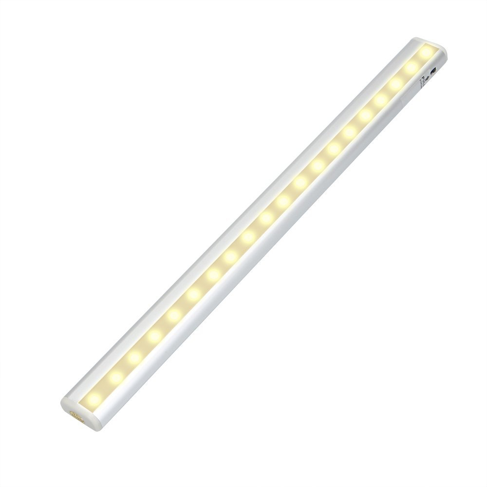 Under Counter Lighting ,Stick-On Anywhere Wireless LED Motion Sensor Night Light for Closet ,Cabinet , Wardrobe, Stair ,Washroom,Hallway( Rechargeable Battery ,Warm light)