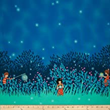 Michael Miller Wee Wander Summer Night Lights Double Border Twilight Fabric By The Yard