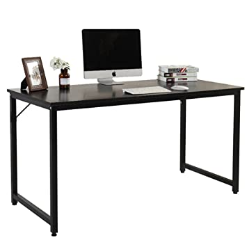 home office computer workstation. Dland Home Office Desk 55\u0026quot; PC Laptop Decent Modern Computer Workstation With Triangular Solid Support E