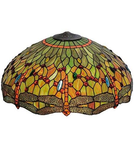 Meyda Tiffany Dragonfly Tiffany Shade - Meyda Tiffany 10386 Hanginghead Dragonfly Glass Lamp Shade, 22