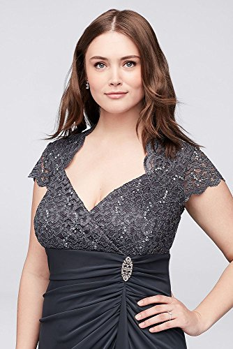 Davids Bridal Gathered Jersey Plus Size Mother Of Bridegroom Dress