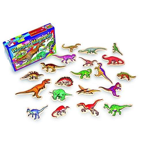 1435 20 motifs détaillés de dinosaures sur des feuilles autocollantes aimantées. Pour le frigo ou un tableau magnétique p.ex.!