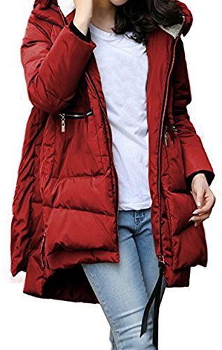 Jacket Women Parka Down Warm Winter Long Vino Cotton Rosso Coat Loose Blackmyth dOIqtwO