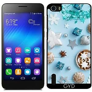 Funda para Huawei Honor 6 - Decoración De Navidad Azul En W by Elisabeth Coelfen