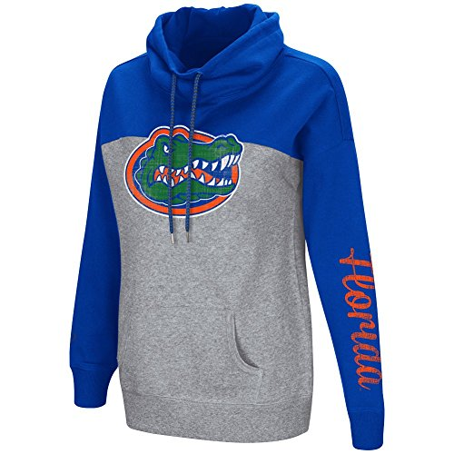 Florida Ncaa Gators Spring (Colosseum Women's NCAA-Springboard Funnel Neck Hoodie Pullover Sweathsirt-Florida Gators-Royal-Small)