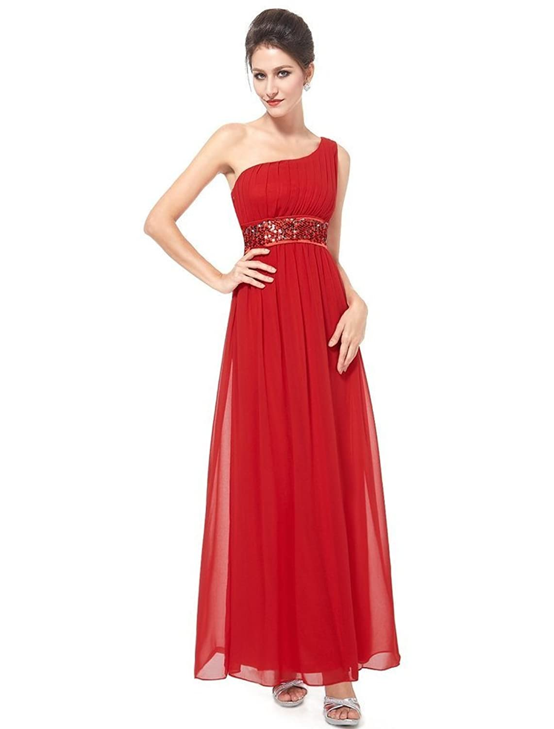 Eudolah Women's One-Shoulder Evening/Bridesmaid/Mother of the Bride/Wedding Party Maxi Dress