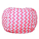 Premium Quality 32 Inch Storage Bean Bag - Stuffed Animal Storage Bean Bag Chair | Perfect Storage Solution For Blankets/Pillows/Towels/Clothes (13)