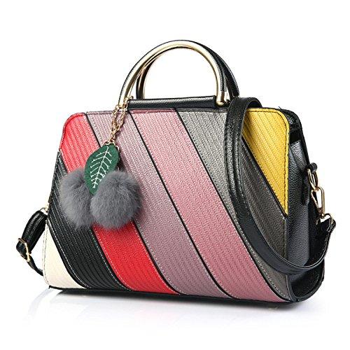 JPFCAK Moda Bolsa De Mujer Salvaje Bolso Bolso De Hombro Bolso De Crossbody Color Coincidente Simple C