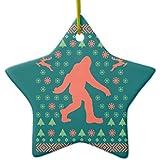 Zazzle Bigfoot Holiday Sweater Tees Ceramic Ornament Star
