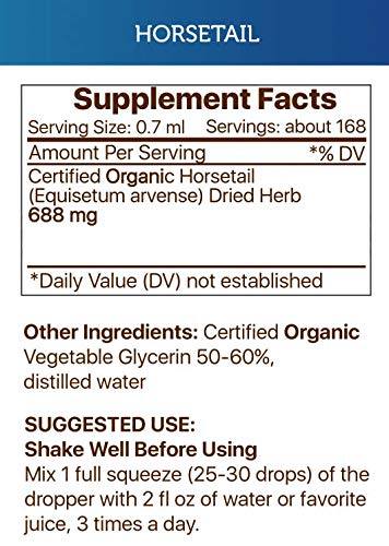 Horsetail Tincture Alcohol-Free Extract, Organic Horsetail Equisetum arvense Healthy Skin, Hair and Nails 2x4 OZ by Secrets of the Tribe (Image #1)