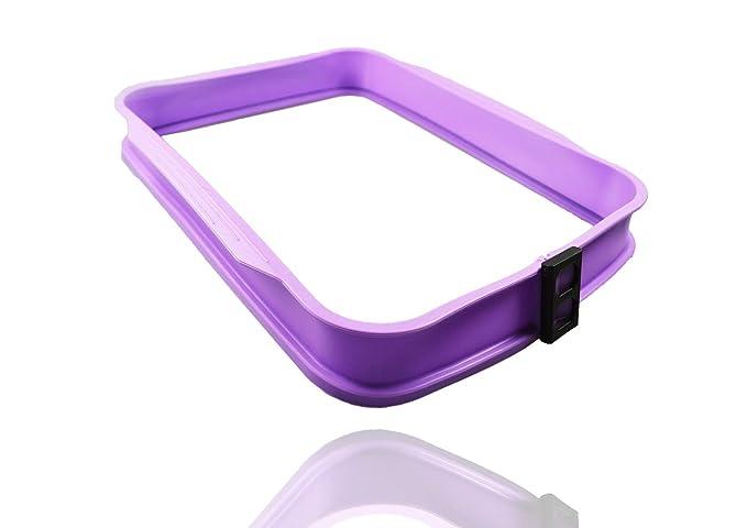 COOX - Fuente para Horno con Placa de Cristal, Color Lila: Amazon ...