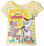 Disney Girls' Frozen I'M A Happy Snowman Short Sleeve T-Shirt
