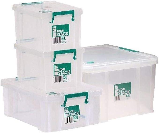 Storestack Caja de Almacenamiento, (48L) UK: Amazon.es: Hogar