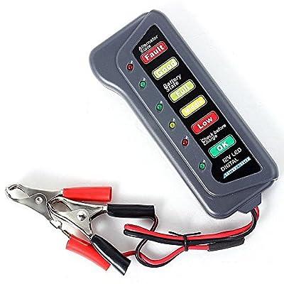 Commart 12V Car Motorcycle Digital Battery Alternator Load Tester 6 LED Display Vehicle Shipping From USA
