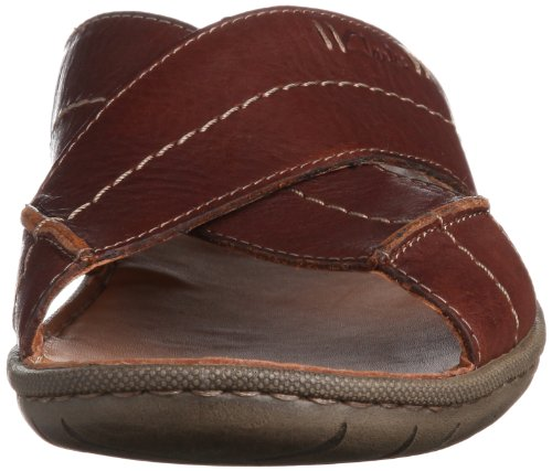 Clarks Woodlake Cross - Pantuflas Hombre Marrón (Brown Leather)