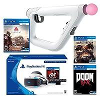 PlayStation VR FPS Classic Bundle (5 Items): PlayStation VR Gran Turismo Bundle, PSVR Doom VFR Game, PSVR Bravo Team Game, PSVR Farpoint Game and PSVR Aim Controller