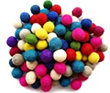 Feltfriend 100 Pieces %100 Wool Felt Balls, Diameter 20 mm : 0.78 inch (Assorted Colors)