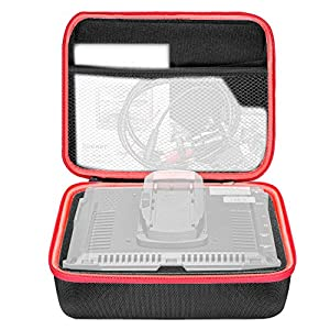 Neewer Pro Handheld 7-inch Monitor Case Storage Carrying Bag with Removable Cutout Foam Insert and Mesh Pocket for NW759/760/74k FeelWorld FW759/760/74k and Other 7-inch Field Monitors (Black/Red)