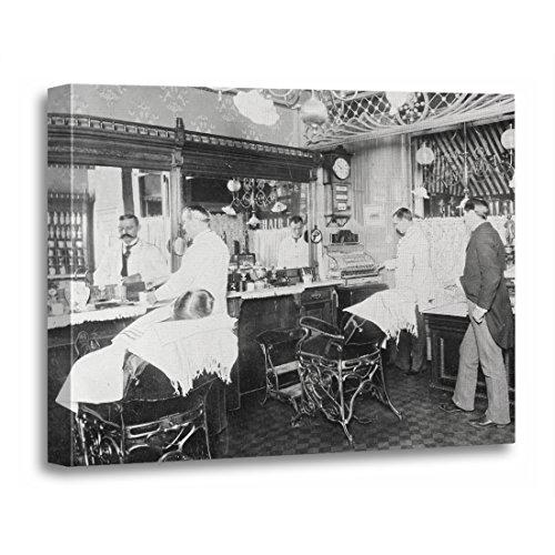 TORASS Canvas Wall Art Print Barbershop New York City Barber 1895 Vintage Retro Artwork for Home Decor 16
