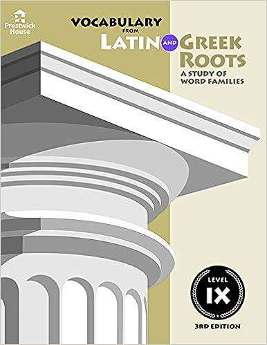 Amazon com: Vocabulary from Latin and Greek Level IX