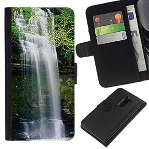 Ihec-Tech / Flip PU Cuero Cover Case para LG G2 D800 D802 D802TA D803 VS980 LS980 - Waterfall