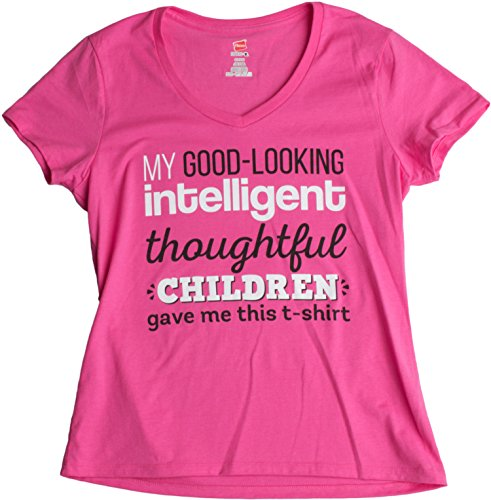 JTshirt.com-19929-My Good-Looking, Thoughtful Children Gave Me This T-shirt | Mother\'s Mom V-neck-B00UZEHSBK-T Shirt Design
