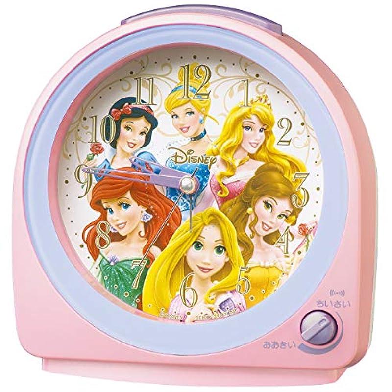 세이코 clock 탁상시계 01:핑크 펄 본체 사이즈:13.0×12.7×7.1cm 자명종 아날로그 디즈니 프린세스 FD989P