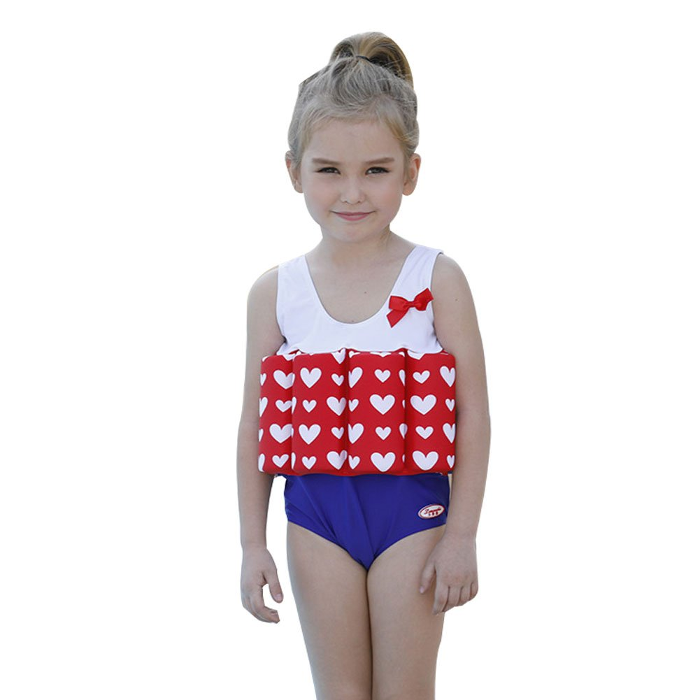 Kids Swimsuits Detachable Swimwear Siamese Swimming Training Float Suits FREE FISHER G3017