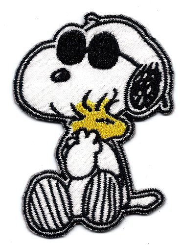 Snoopy Joe Cool Woodstock Glasses Embroidered Patch Iron/Sew On