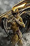 "Power Rangers Limited Edition Lithograph 16"" x 24"" - Titled ""Yellow Ranger"" by Carlos Dattoli"