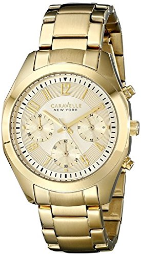 Caravelle by Bulova New York 44L118 38mm Gold Plated Stainless Steel Case  Gold Plated Stainless Steel 0d5f15de82e9