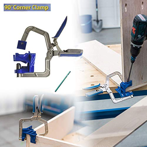Nesee Right Angle 90 Degree Corner Clamp,Auto-Adjustable 90 Degree Corner Clamp and Face Frame Clamp Woodworking Fit Tool