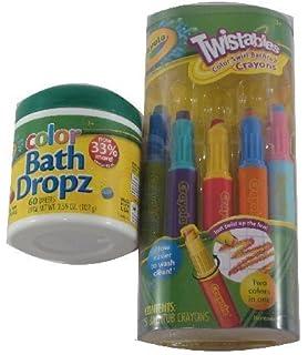 Crayola Bathtub Crayons With Color Bath Drops 60 Tablets Bathing Accessories Baby Bathing Accessories