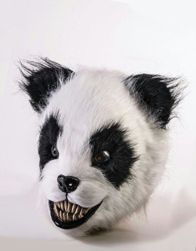 Killer Panda Costume (Scary Panda Latex Adult Animal Mask)