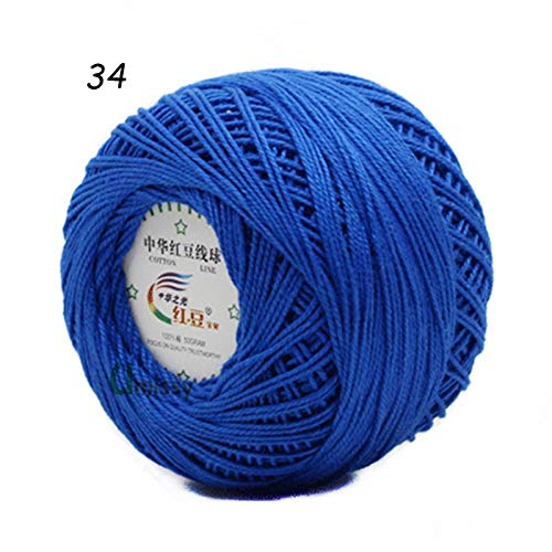 Knitting Yarn - 10pcs 100% Cotton Yarn 3# Lace Yarn for Crocheting Baby Needle Work Using 2.5mm Crochet 500g/Lot