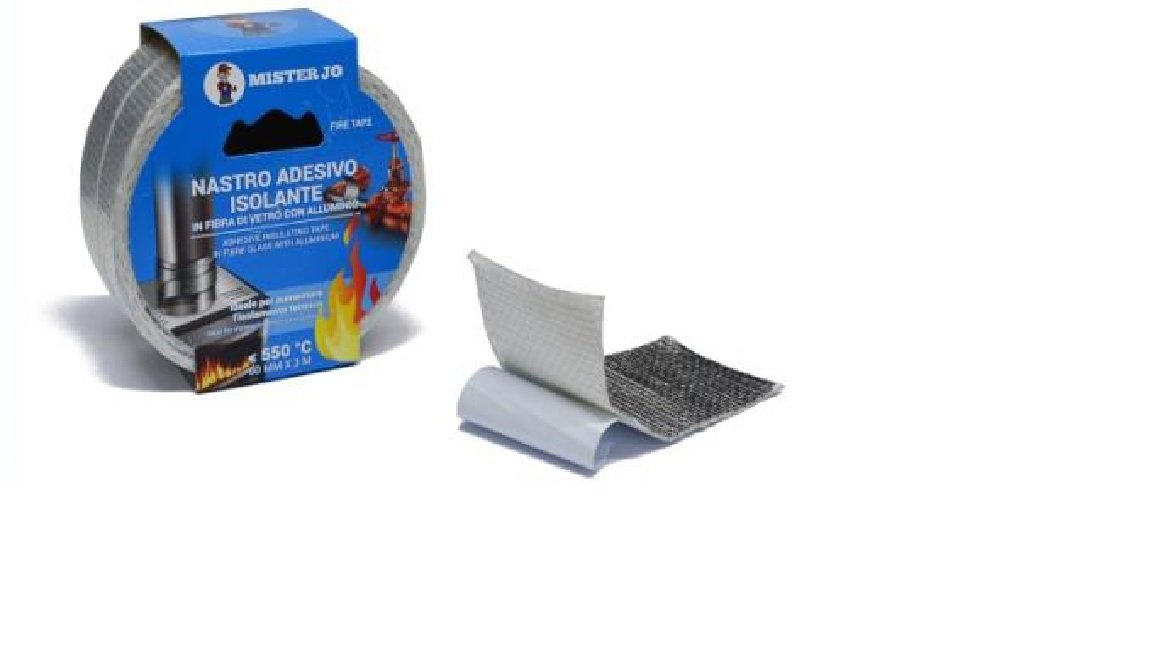 Geko Nastro Adesivo Fibra di Vetro + Alluminio, Grigio, MM 50 X 3 MT Geko_6700/8