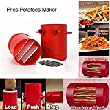 Aolvo [NEWEST 2018] Fries Potatoes Maker, 2 in 1 Potato Slicers French Fries Maker Cutter Machine & Microwave Container, No Deep-Fry To Make Healthy Fries