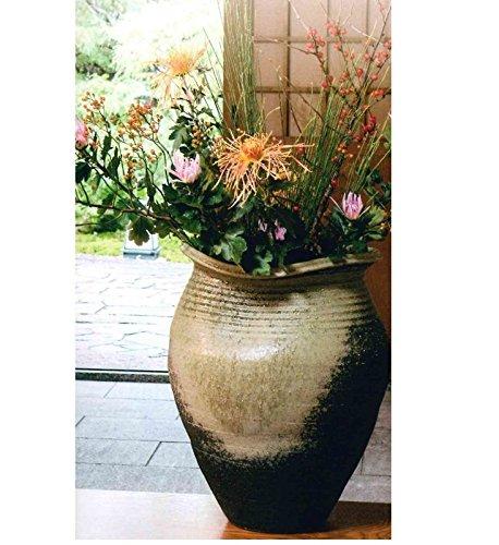 信楽焼 窯肌松皮壺型花瓶20号(全高53cm×全幅42cm) B07DGSBGBB