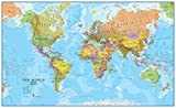 map of the world poster - Giant World MegaMap, Huge Wall Map - Paper with front sheet lamination