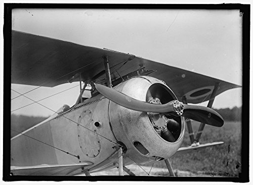 1917 Photo LANGLEY FIELD, VA. FRENCH NIEUPORT PLANE, TYPE 17, WITH GNOME ROTARY ENGINE AND CHAUVIERE PROPELLER Location: Langley, (Nieuport Type)